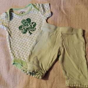0-3m onesie and cotton pants